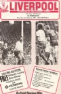 Fotboll Program Football Liverpool-Altrincham programme FA-cupen 1981