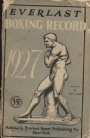 Boxning Everlast Boxing Record Book 1927