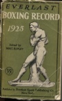 Boxning Everlast Boxing Record Book 1925