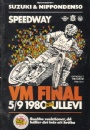 Motorcykelsport Program Speedway VM-final Ullevi 1980