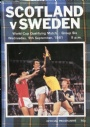 Fotboll Program Scotland v Sweden 1981