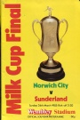 Fotboll Program Football programme FA-cupen 1985 Final Norwich-Sunderland