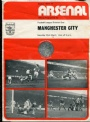 Fotboll Program Football programme Arsenal-Manchester City 23/3 1974