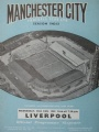 Fotboll Program Football programme Manchester City vs Liverpool 22nd aug.1962