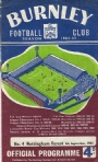 Fotboll Program Football programme Burnley och Nottingham Forest 1964
